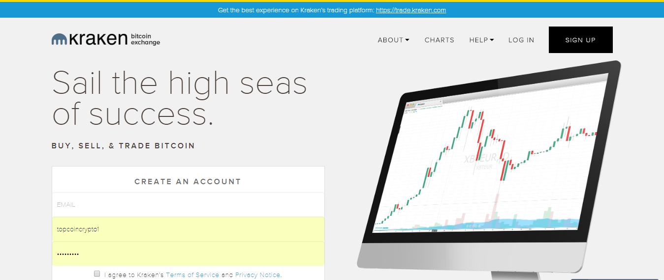 Kraken home page